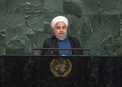 <em>Iran President Rouhani addresses UN General Assembly</em>
