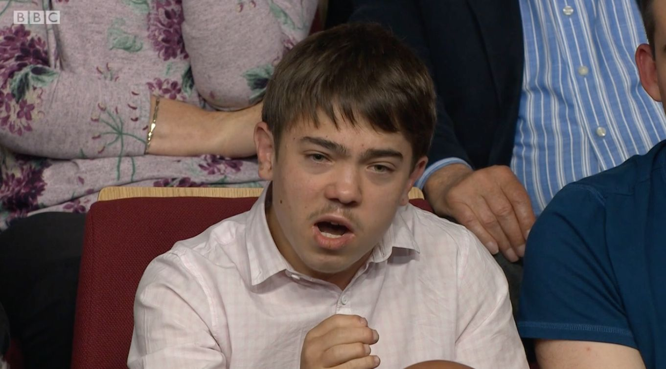 A teen audience member demanded an apology from the Lib Dem