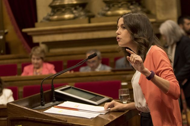 In a stormy session on September 6, the Catalan parliament approved the Referendum Law. In the photo,...