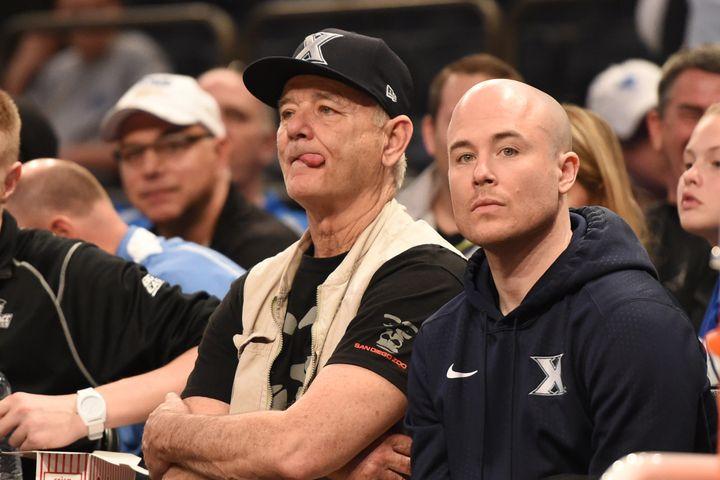 Bill Murray with son Luke Murray.