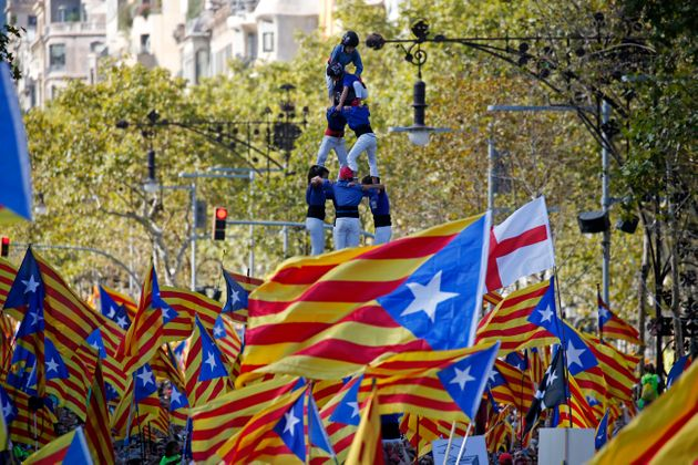 One million people demonstrated in Barcelona supporting the Catalonia's independence
