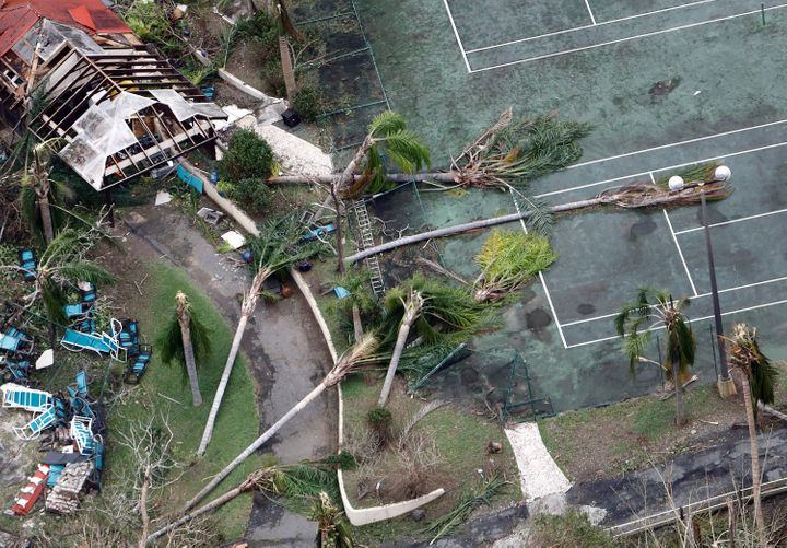 Damage from Hurricane Maria in St. Croix, U.S. Virgin Islands.
