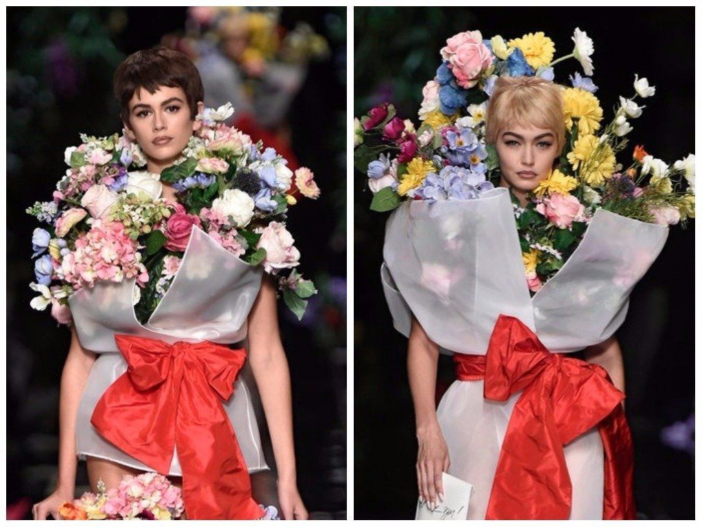 Who Needs Clothes When You Can Wear Flowers Like Gigi Hadid And Kaia