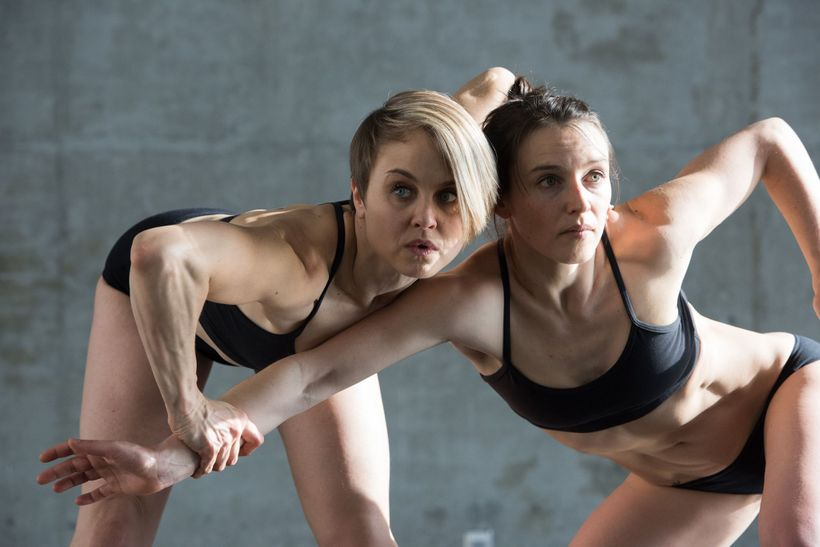 Shura Baryshnikov and Danielle Davidson; Doppelgänger Dance Collective