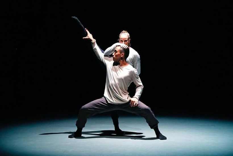 Lissa Smith and Kevin Pajarillaga in <em>Through The Fracture of Light</em>