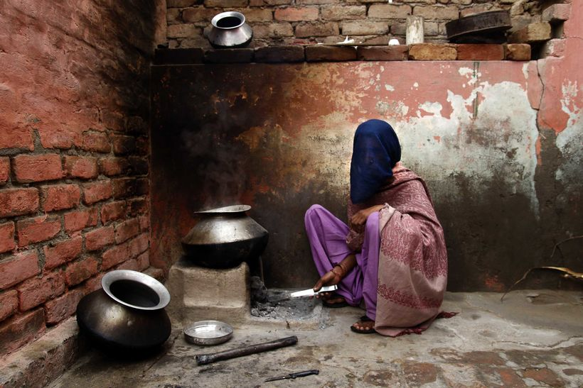In Haryana, the pejorative terms paro or molki ('molki' literally means 'one who has a price') are used to describe women who
