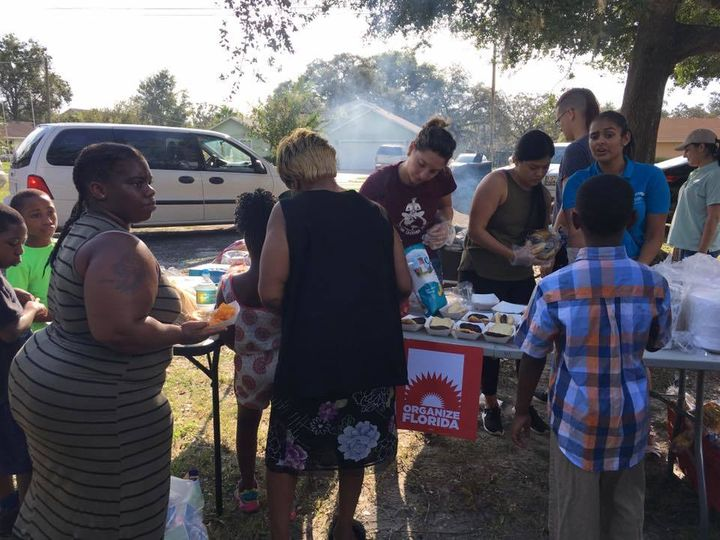 <em>Organize Florida staff delivering food and other essential services through Hurricane Irma Community Recovery Fund.</em>