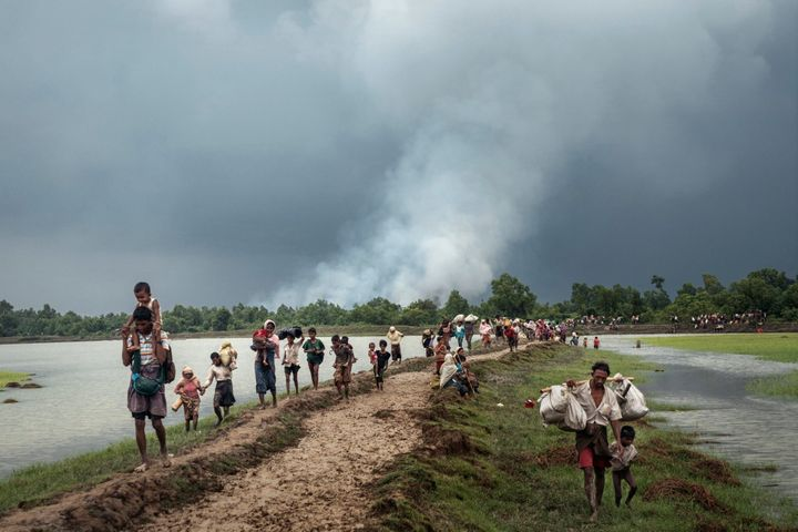 Over 15,000 Rohingyas have fled their burning villages each day
