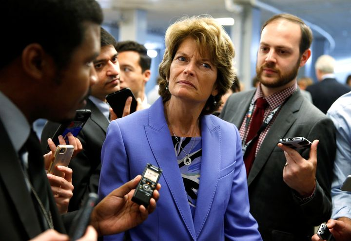 Sen. Lisa Murkowski (R-Alaska) being coy with reporters on how she'll vote on yet another Obamacare repeal bill.