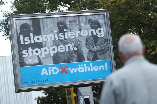 'Stop Islamisation. Vote AfD!' a poster in Berlin urges