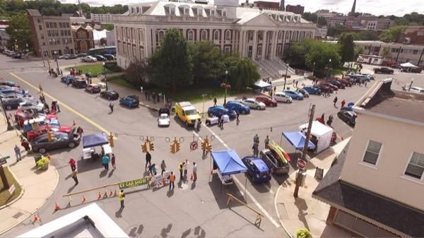 <em>The Schenectady, New York National Drive Electric Week event.</em>