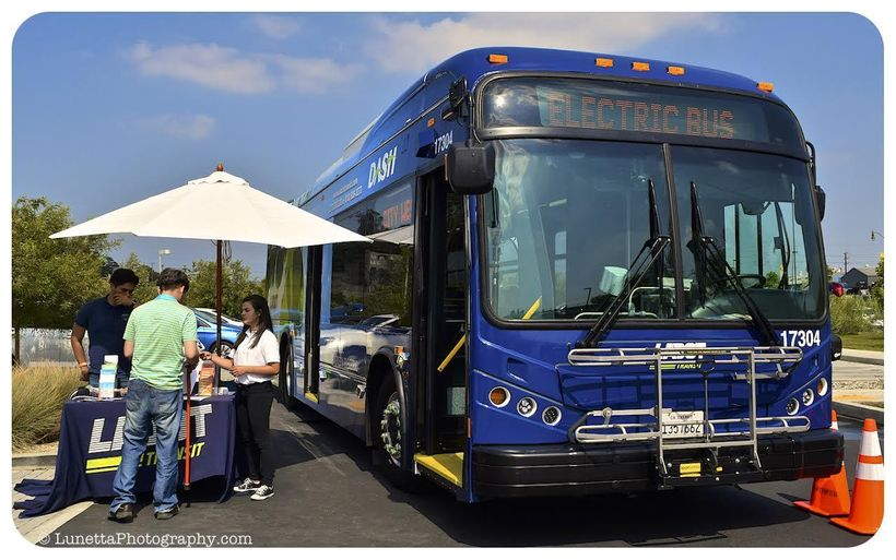 <em>A zero emisson electric bus at the San Diego National Drive Electric Week event.</em>