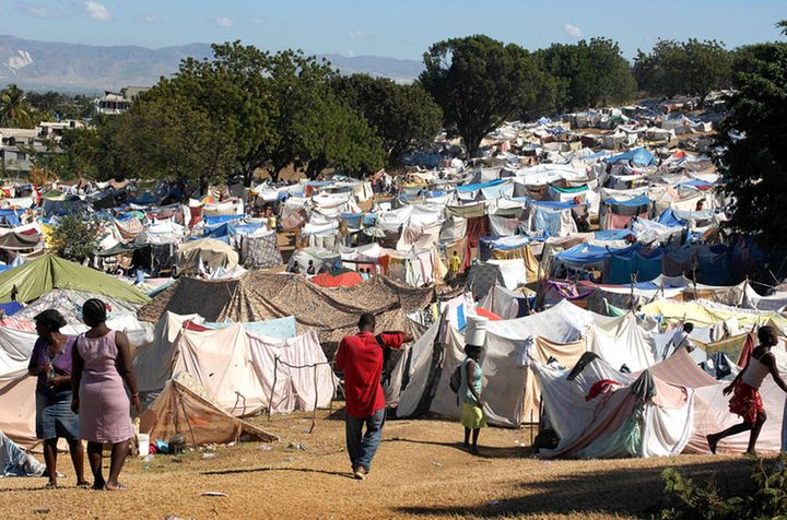 A tent city in post-earthquake Haiti.