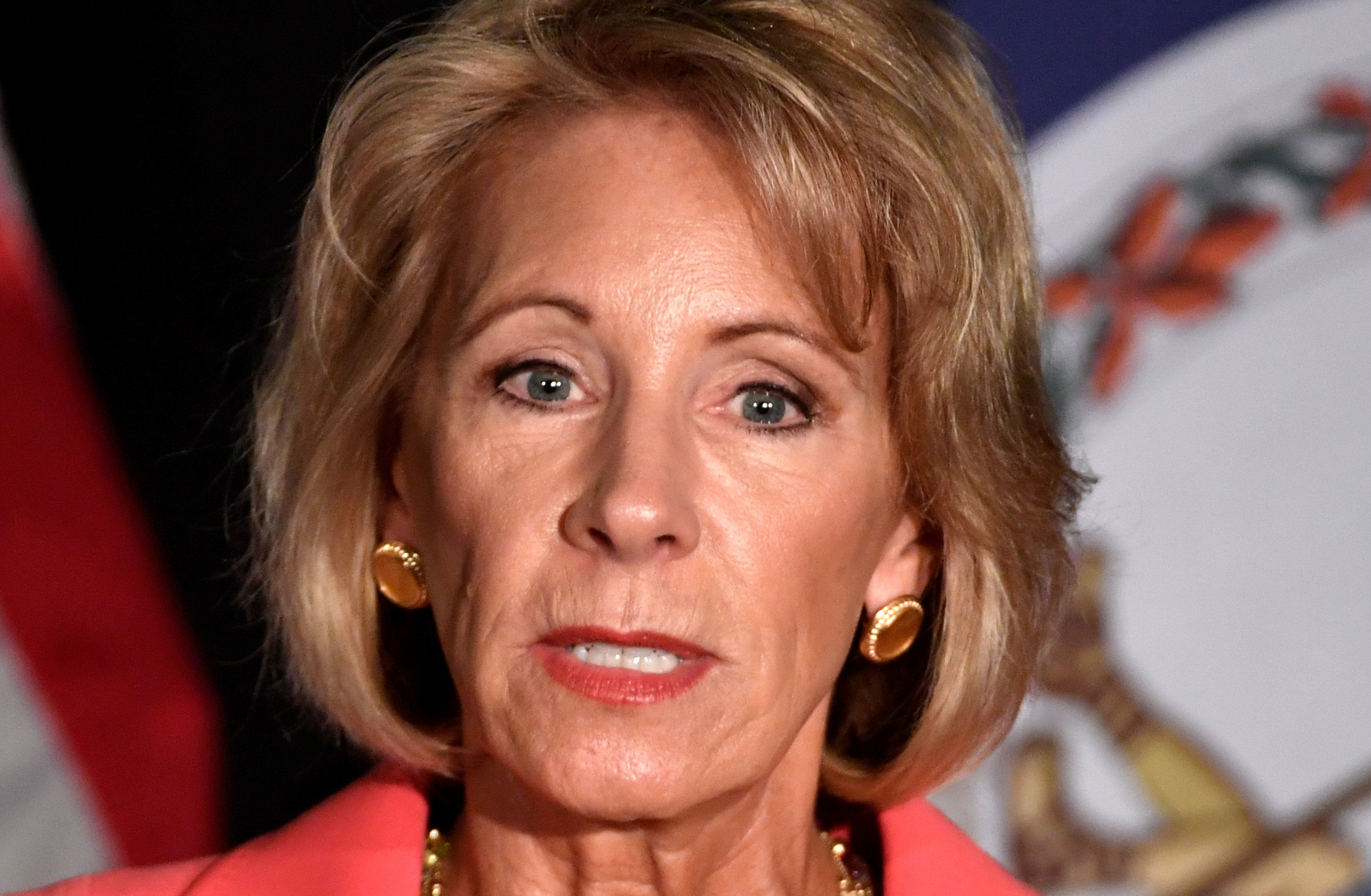 "Education Secretary Betsy DeVos said the process for addressing college sexual assault must be ""fair and impartial."""
