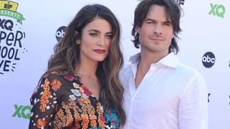 SANTA MONICA, CA - SEPTEMBER 08:  Actress Nikki Reed and actor Ian Somerhalder attend XQ Super School Live at The Barker Hanger on September 8, 2017 in Santa Monica, California.  (Photo by Jason LaVeris/FilmMagic)