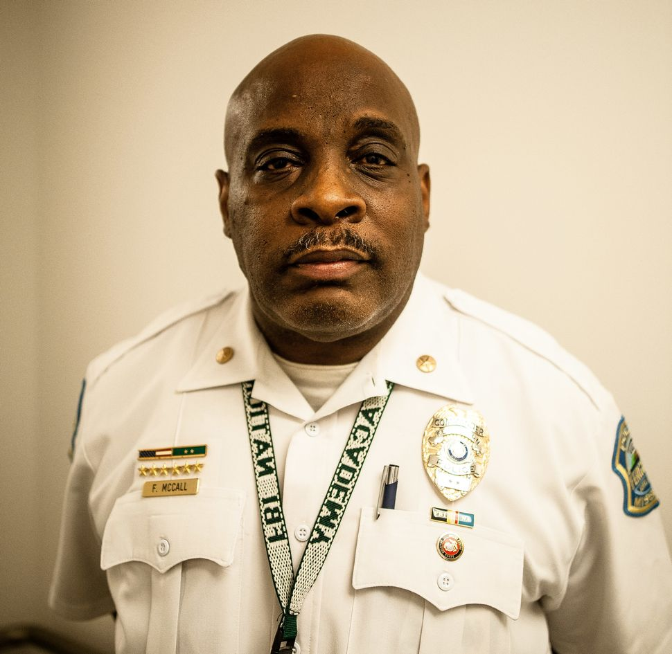 Frank McCall, a police commander in Ferguson, has overseen progress on the consent decree.