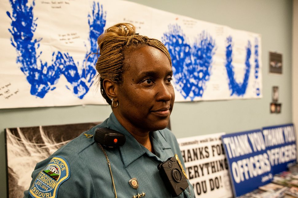 Sgt. Dominica Fuller of the Ferguson Police Department is one of just three black officers who were with the force during the
