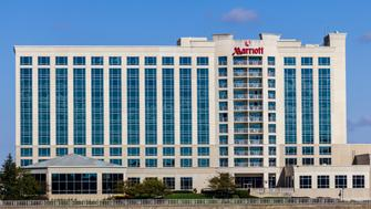 Indianapolis, US - October 22, 2016: Marriott North Hotel. Marriott offers full-service hotels and resorts II