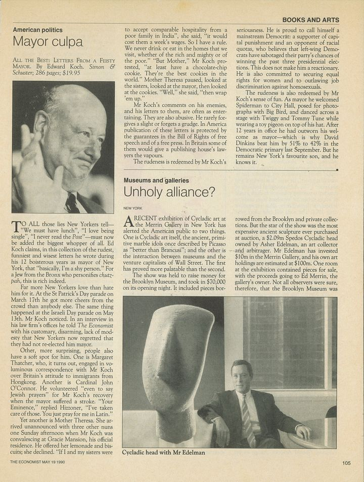 <p><strong>SUZAN MAZUR (ANONYMOUSLY WRITTEN), THE ECONOMIST MAGAZINE, MAY 19, 1990</strong></p>