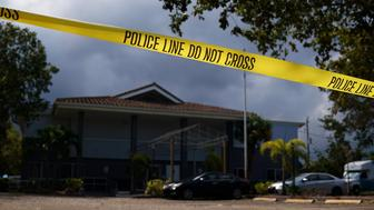 Police tape surrounds the Rehabilitation Center at Hollywood Hills in Hollywood, Florida, U.S., September 13, 2017. REUTERS/Carlo Allegri