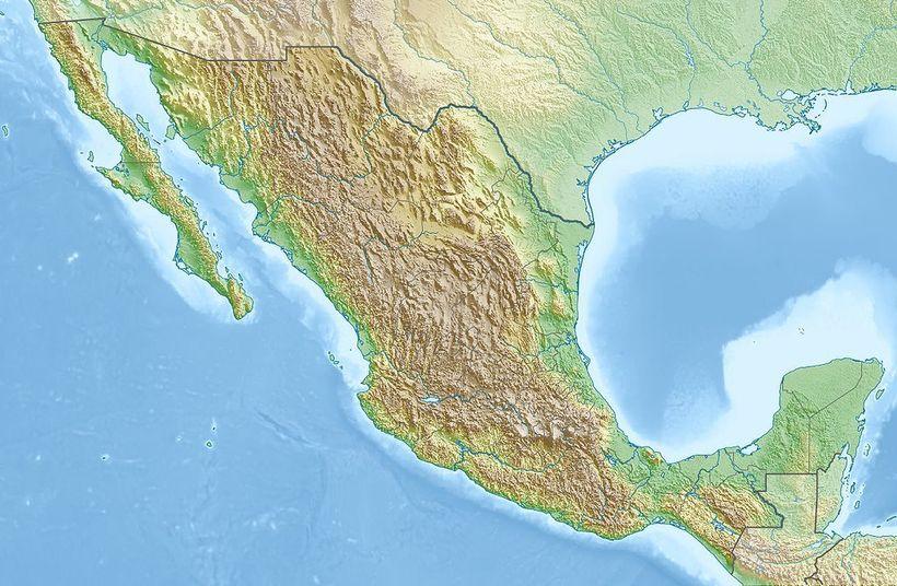 <em>Relief map of Mexico. </em>