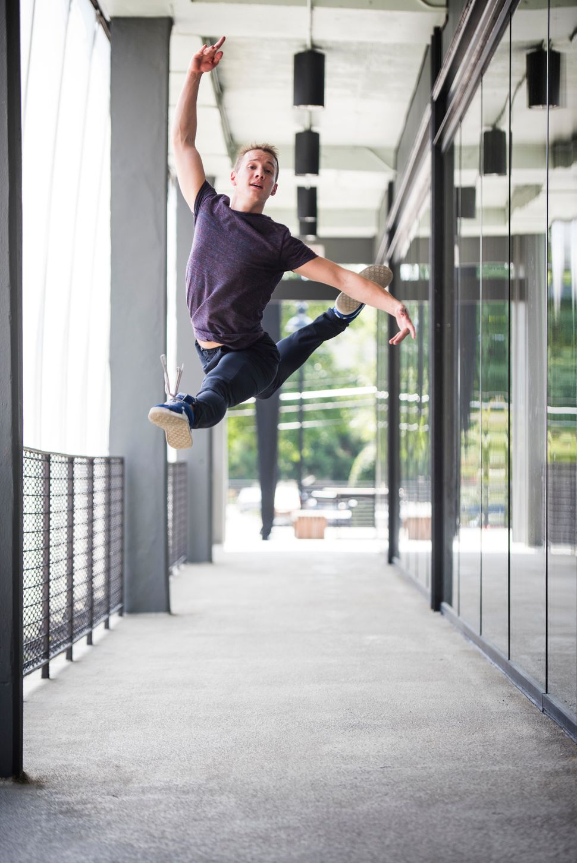 Jacob Bush of Atlanta Ballet shows off his dancing skills during HuffPost's visit to Atlanta.