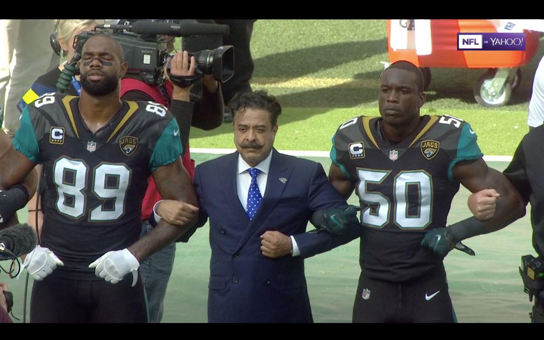 Jacksonville Jaguars owner Shahid Khan issues statement against Donald Trump