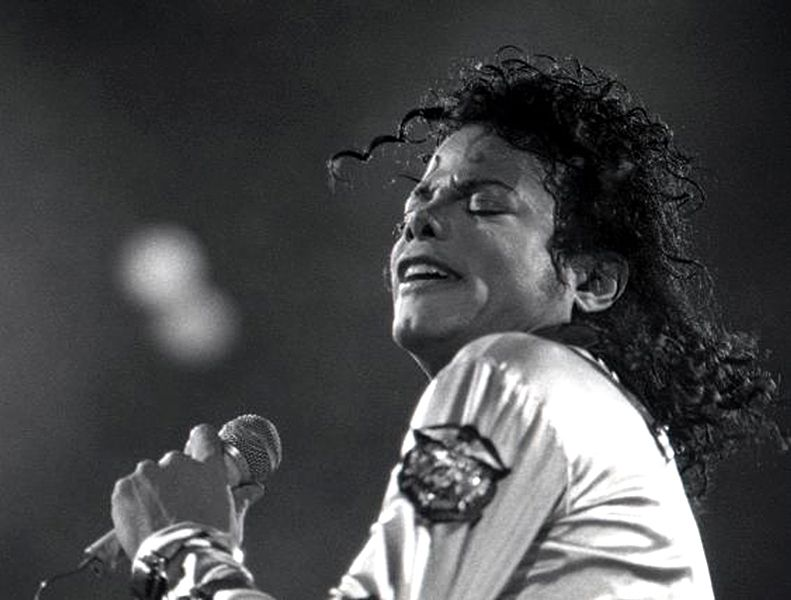 Michael Jackson performs in Vienna, Austria on the Bad World Tour.