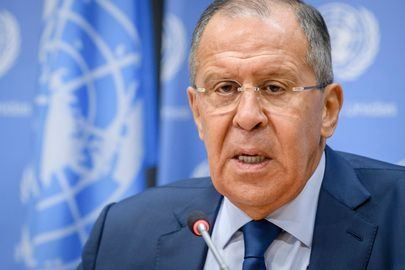 Russia's Lavrov at UN press conference