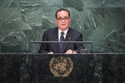 North Korea Foreign Minister  Ri Young-ho addresses UN General Assembly