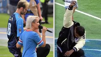 Anthem Singers Take A Knee