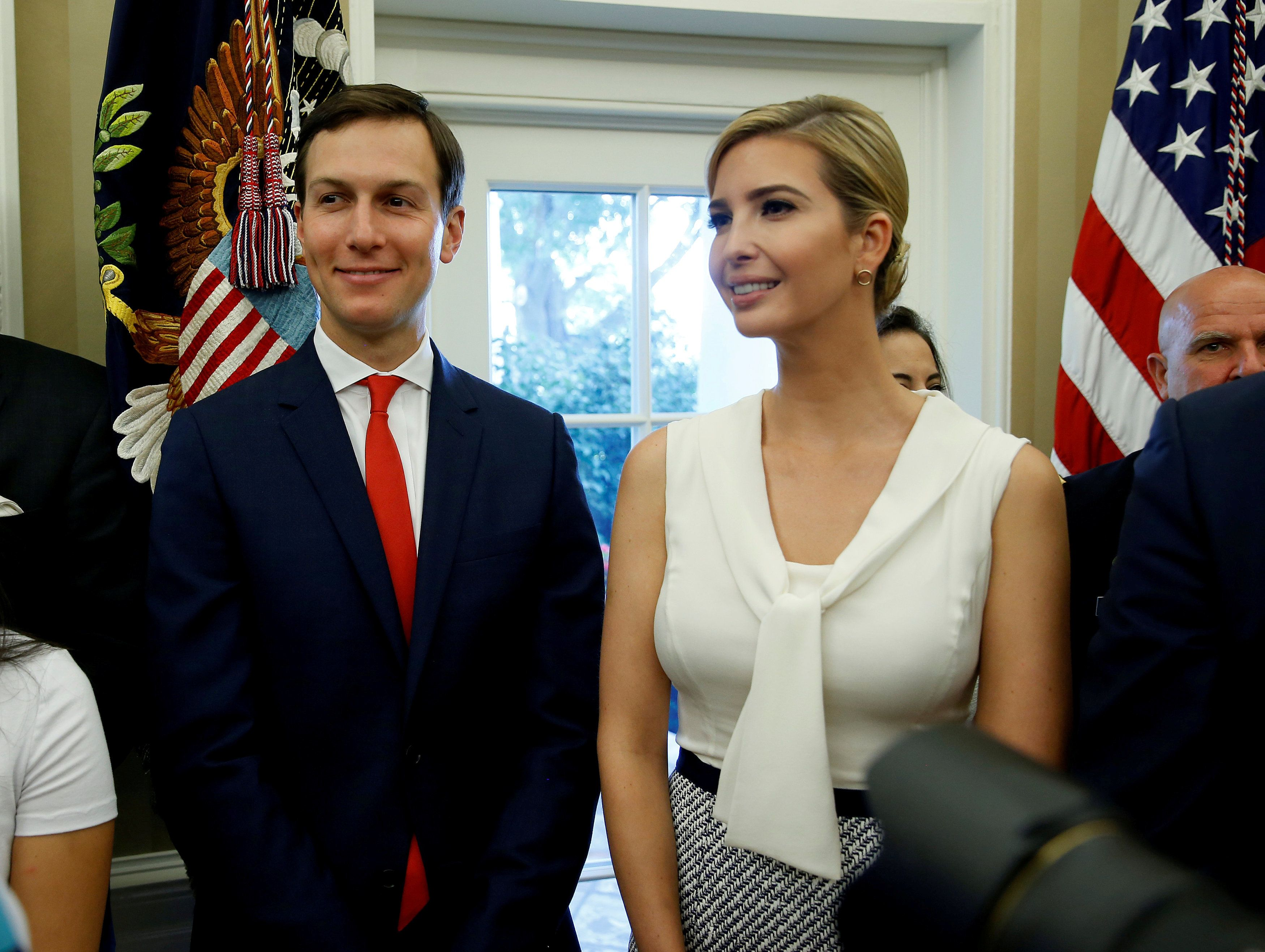 Jared Kushner and Ivanka Trump in the Oval Office in July of this