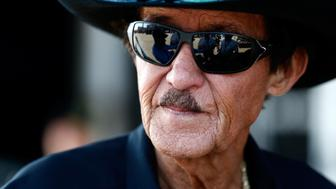 JOLIET, IL - SEPTEMBER 15:  NASCAR Hall of Famer and team owner Richard Petty stands in the garage area during practice for the Monster Energy NASCAR Cup Series Tales of the Turtles 400 at Chicagoland Speedway on September 15, 2017 in Joliet, Illinois.  (Photo by Jeff Zelevansky/Getty Images)