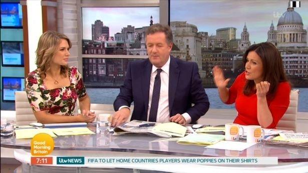 Susanna Reid gave Piers Morgan a telling off on 'Good Morning