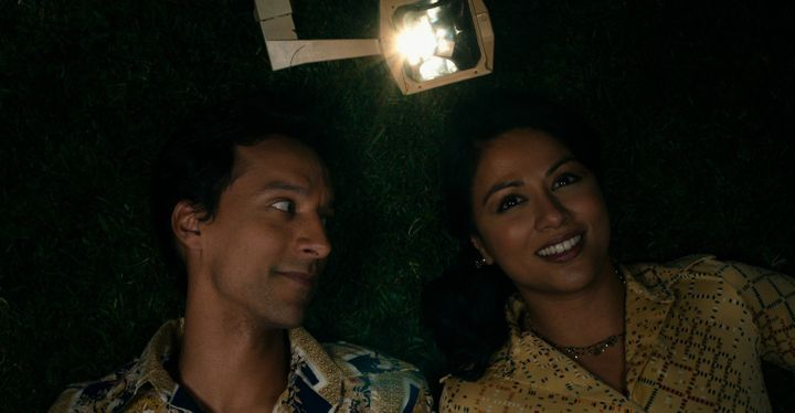 "Danny Pudi and Karen David star in ""The Tiger Hunter."""