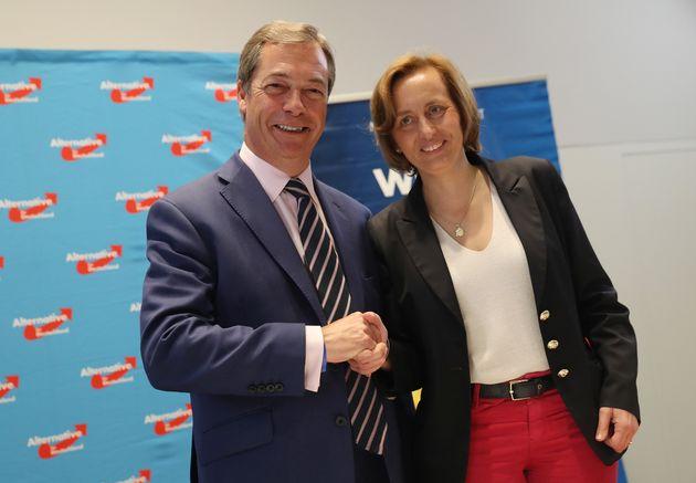 Nigel Farage meets leading AfD member Beatrix von Storch on September 8. Ukip has notnamedthe...