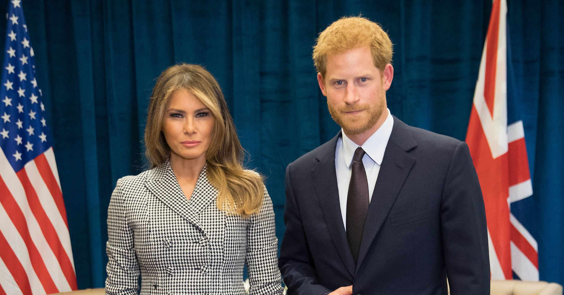 Body language experts explain prince harrys strange pose with body language experts explain prince harrys strange pose with melania trump huffpost buycottarizona
