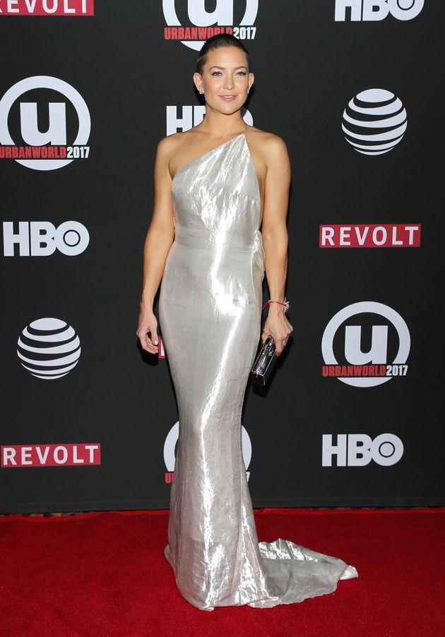Kate Hudson attends the 21st Annual Urbanworld Film Festival at AMC Empire 25 theater on September 23,...