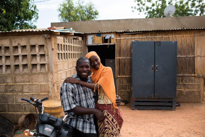 A newlywed couple in Ouagadougou, Burkina Faso, is looking to the future. Sub-Saharan Africa has the largest proportion of yo