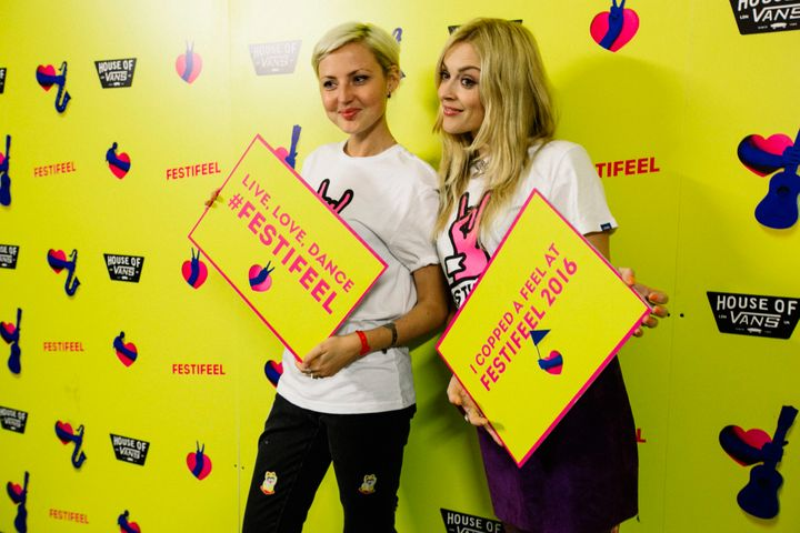 Kris with her pal Fearne Cotton at Festifeel.