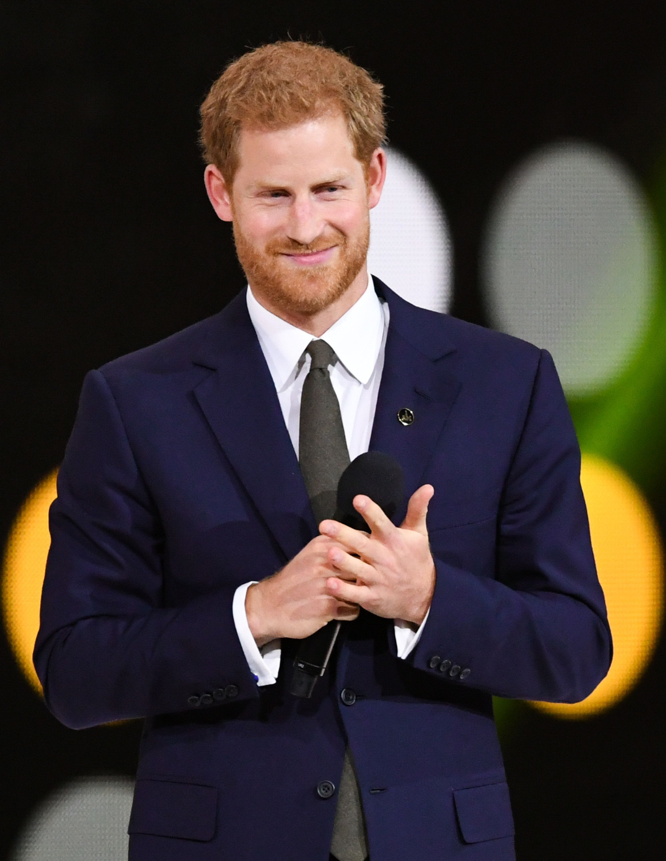 TORONTO, ON - SEPTEMBER 23:  Prince Harry gives a speech at the opening ceremony on day 1 of the Invictus Games Toronto 2017 on September 23, 2017 in Toronto, Canada.  The Games use the power of sport to inspire recovery, support rehabilitation and generate a wider understanding and respect for the Armed Forces.  (Photo by Samir Hussein/WireImage)