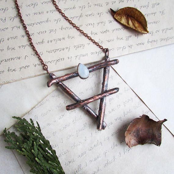 "<a href=""https://www.etsy.com/listing/451235216/earth-symbol-alchemy-earth-necklace?ga_order=most_relevant&ga_search_type"