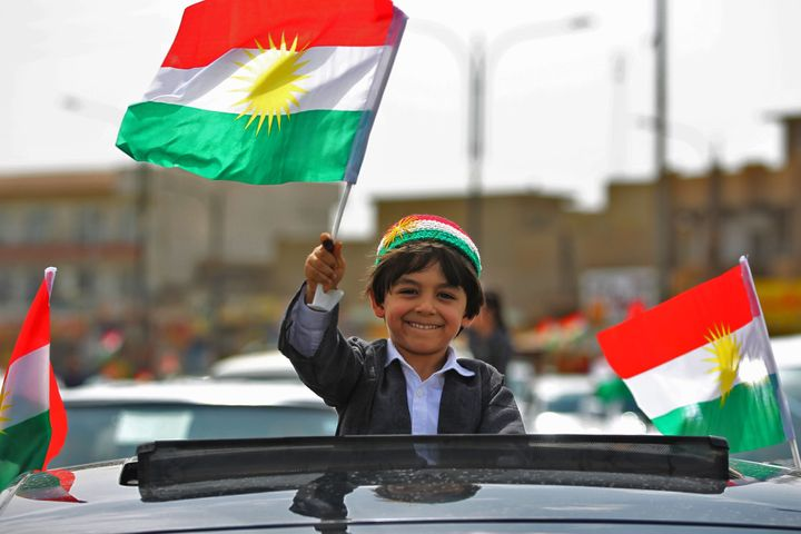 Celebrations during a Kurdish vote for independence in Kirkuk, northern Iraq, on Sept. 25.