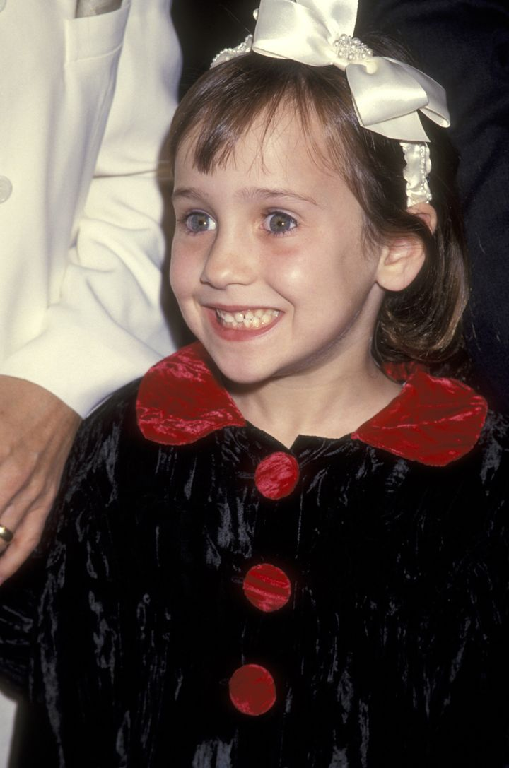 Mara Wilson attends the 'Mrs. Doubtfire' Beverly Hills Premiere on November 22, 1993.