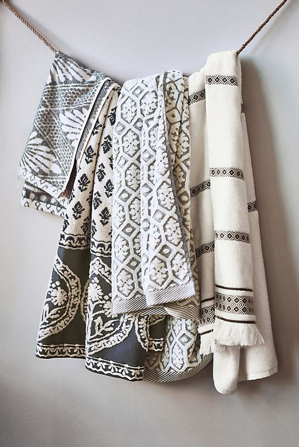 "Add some flair to your bathroom with decorative hand towels. Get them <a href=""https://www.anthropologie.com/shop/tarren"