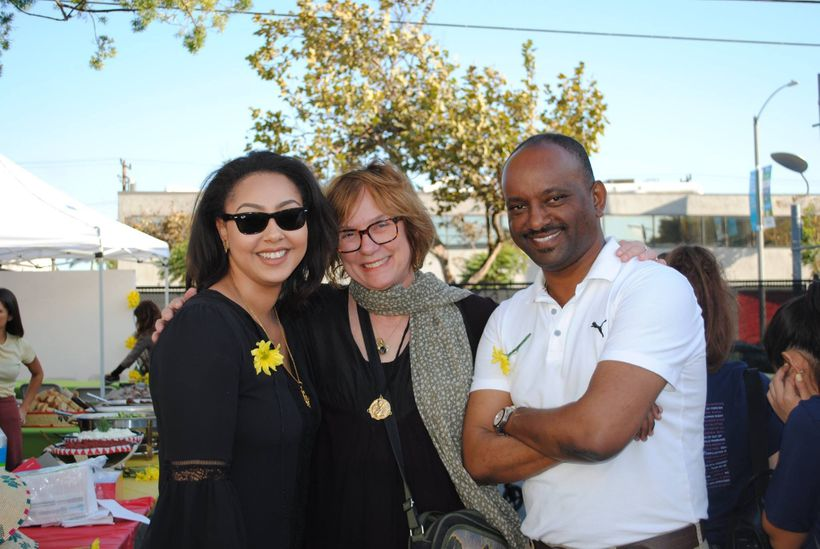 Former TSEHAI Intern, Welela Makonnen; Director of the LMU Marymount Institute, Theresia de Vroom; and founder of TSEHAI Publ