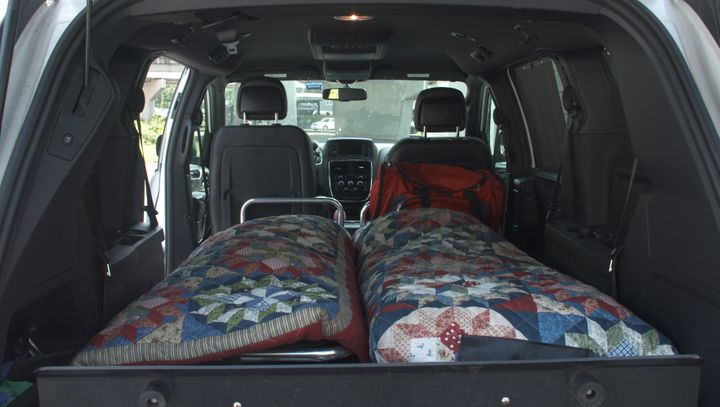 Charleston Mortuary Services has five vans retrofitted to carry two bodies at a time.