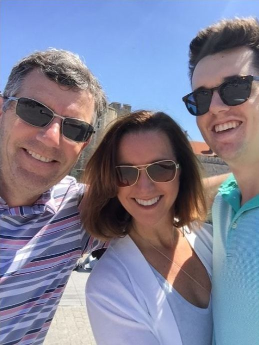 <em>My husband Wayne, me and my son Kyle on a recent holiday.</em>