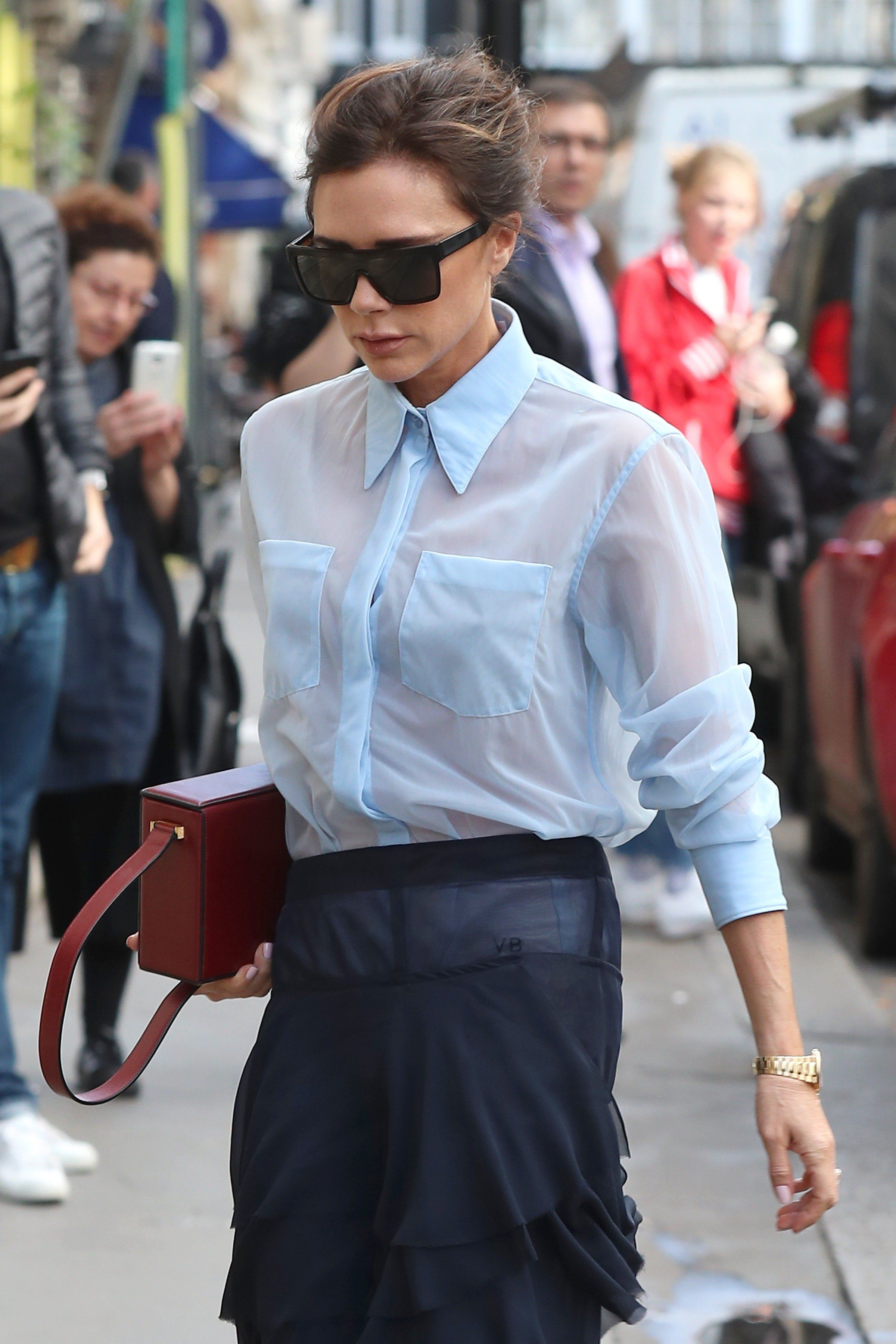 Victoria Beckham Created A Sheer Blouse Trend That Is Totally
