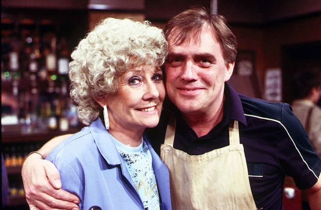 Liz as Verawith her on-screen husbandJack Duckworth, played by the late Bill